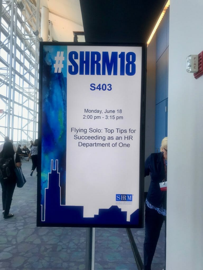 HR Department of One (HR DOO) Session at #SHRM18